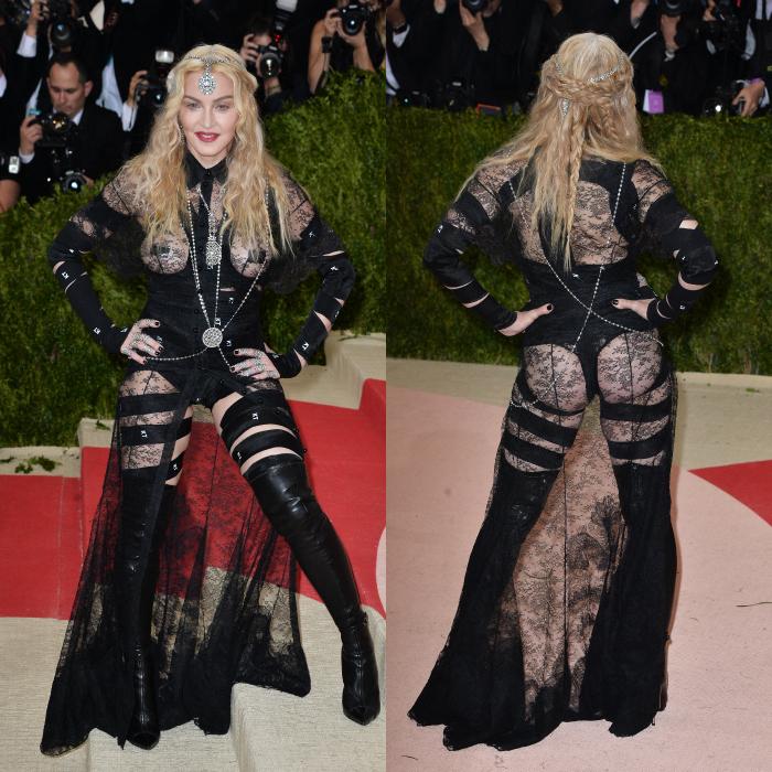 Madonna encore plus trash et rock n'roll.  Elle est pas allée un peu loin ? C'est le thème ?